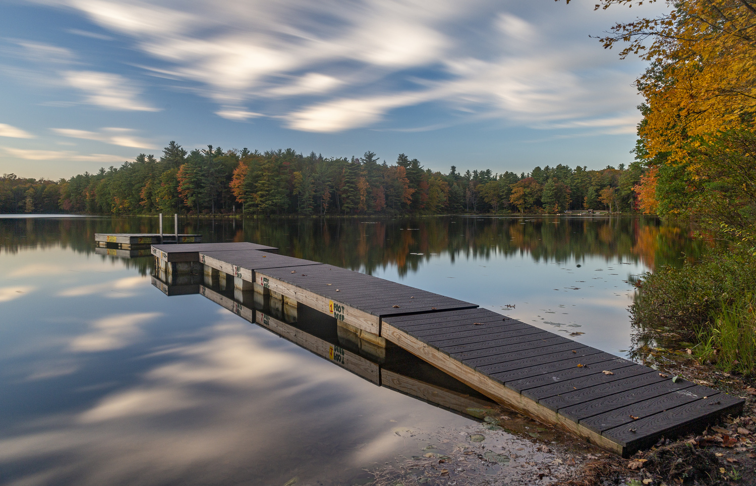 Fall at the lake by Greg Milunich