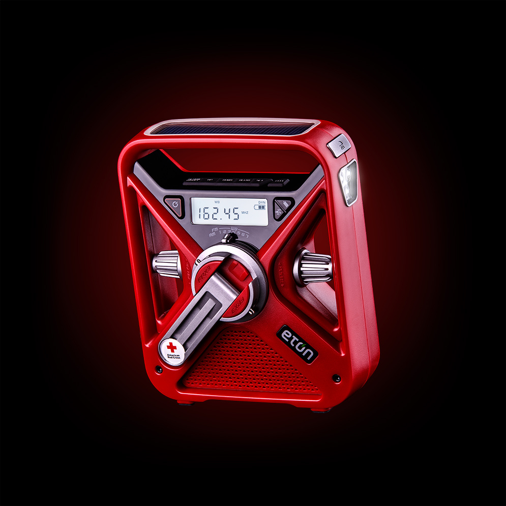 Red Emergency Radio by Vaclav Rus