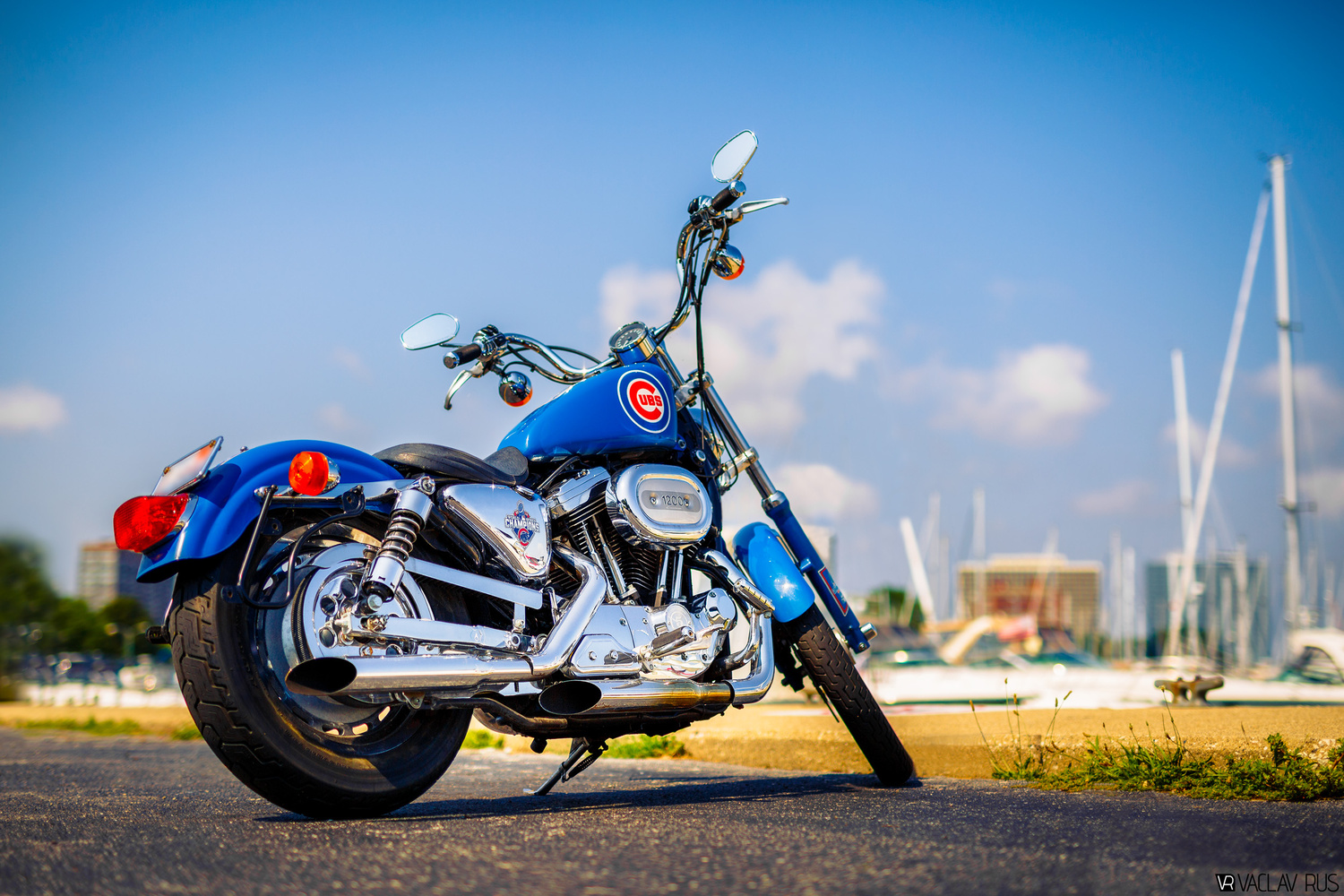 Chicago Cubs Motorcycle by Vaclav Rus
