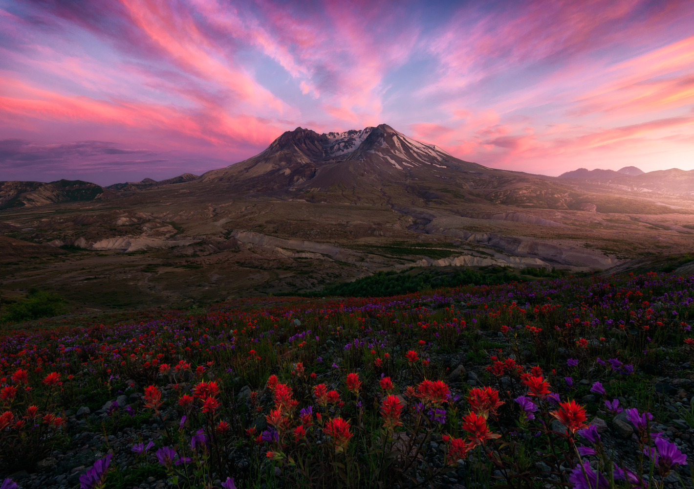 Mount St Helens sunset by KENNETH FURMAN