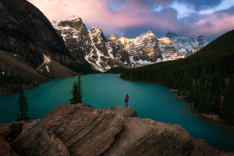 Moraine Lake sunrise by KENNETH FURMAN