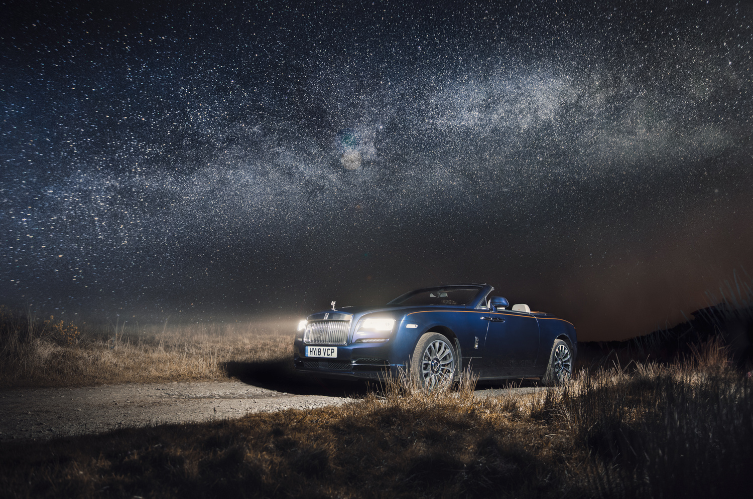 Rolls Royce Dawn under the stars by Andrew Hoyle