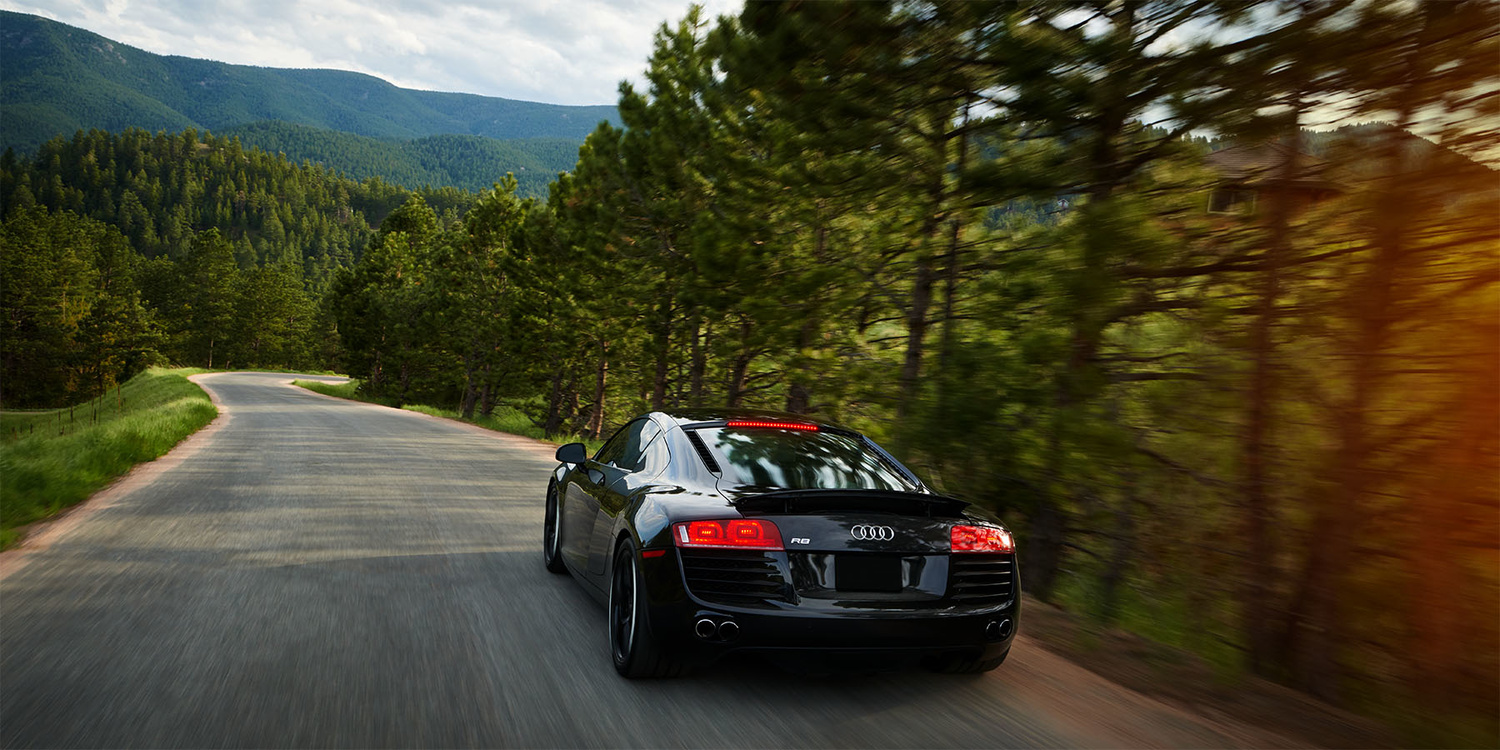 Audi R8 in the mountains by Derek Johnson