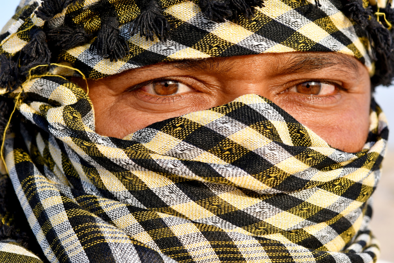 Portrait of an Arab man by Savvas Stavrinos