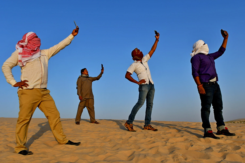 Selfie in the desert by Savvas Stavrinos