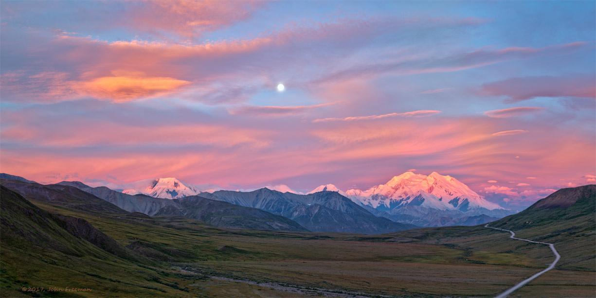 Moon Over Denali by John Freeman