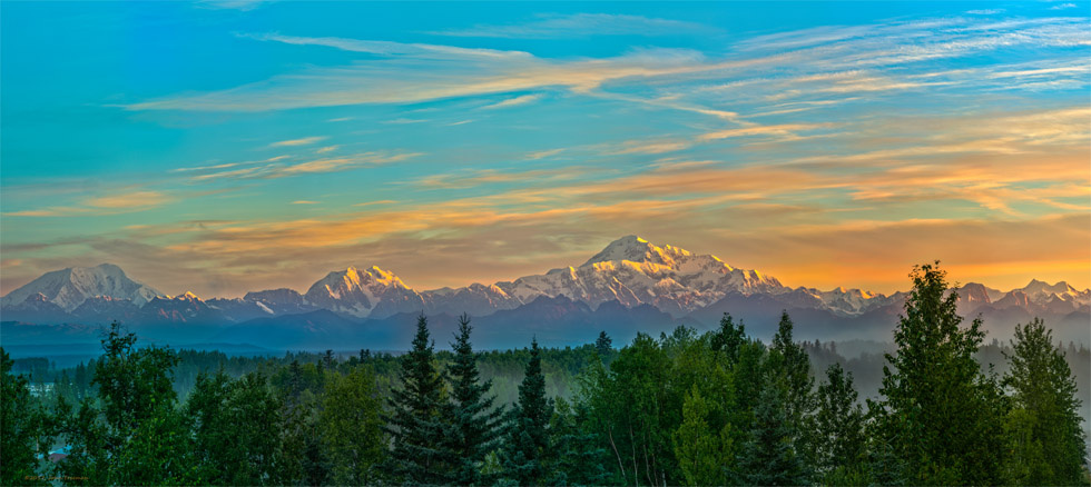 Denali Sunrise at Talkeetna by John Freeman
