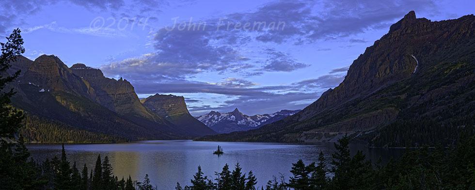 Sunrise at Wild Goose Island by John Freeman
