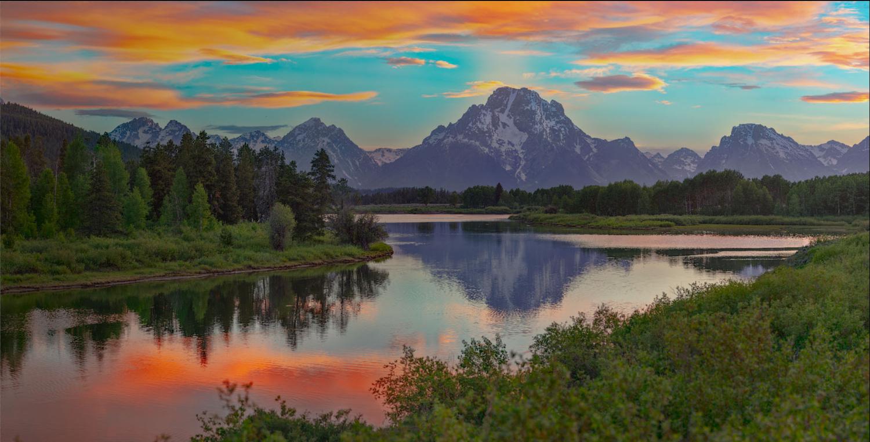 Oxbow Sunset by John Freeman
