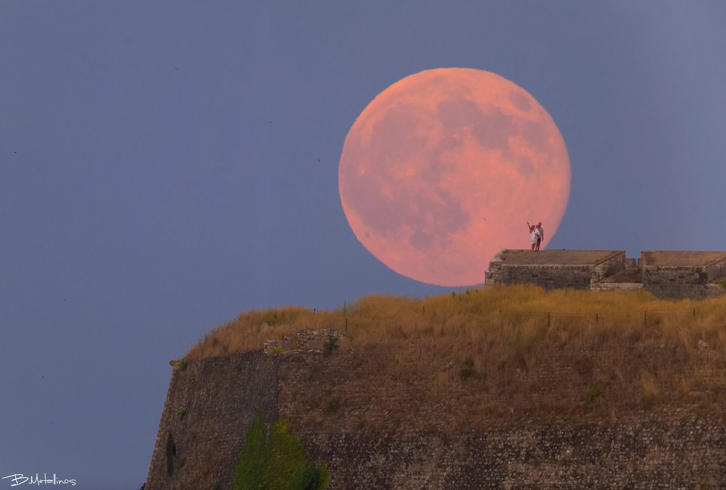 Blue Moon and my Family by Bill Metallinos