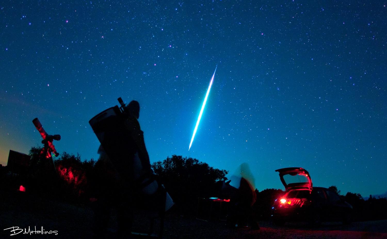Fireball above Stargazing, Corfu by Bill Metallinos