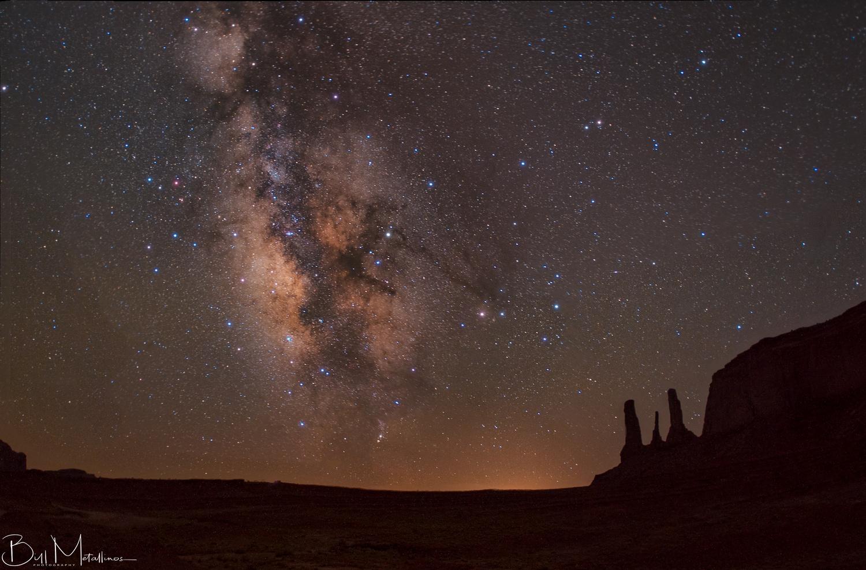 Milkyway above Three Sisters by Bill Metallinos
