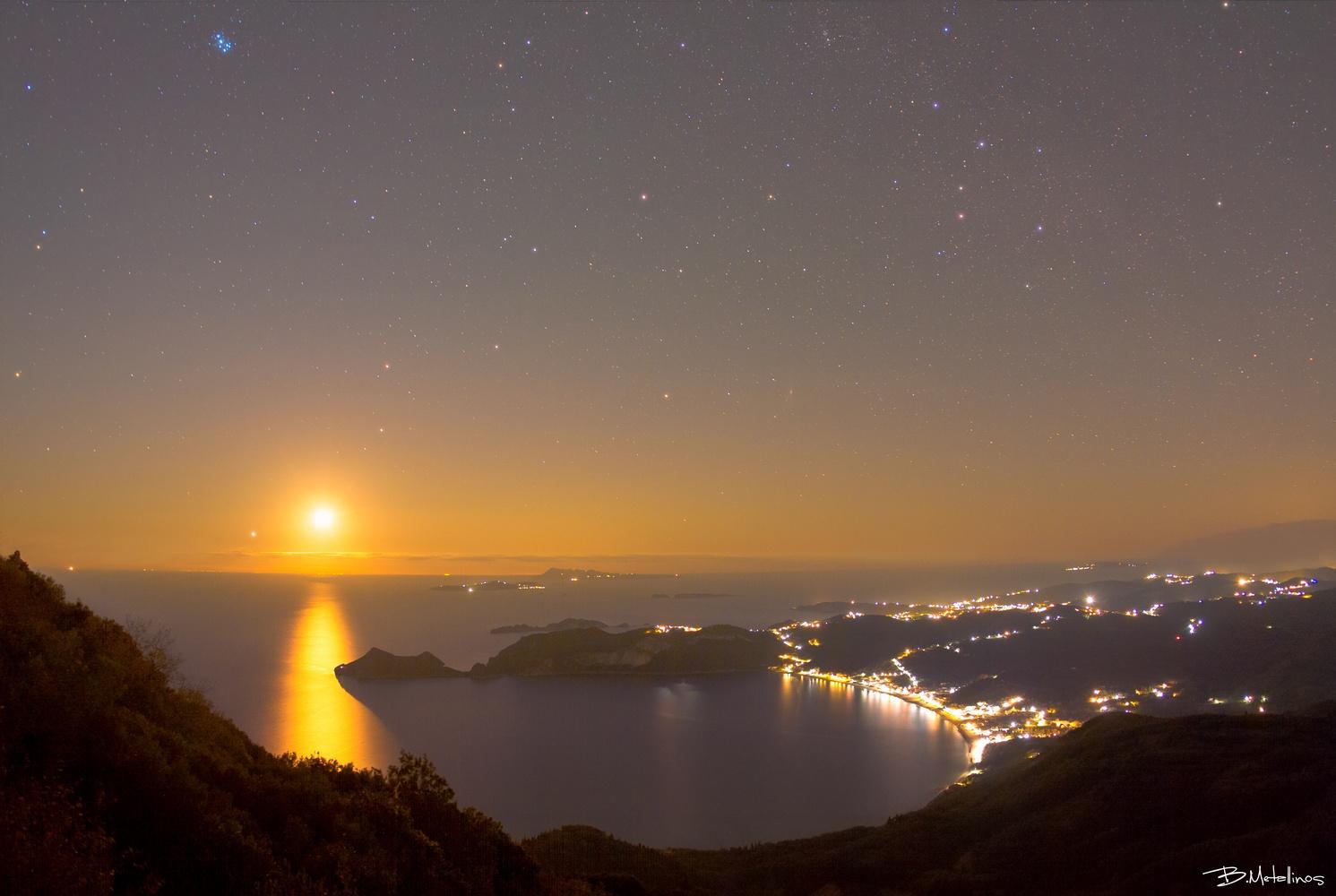 Nightscape above St.George by Bill Metallinos