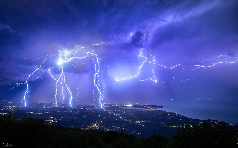 Electric Night above Corfu by Bill Metallinos