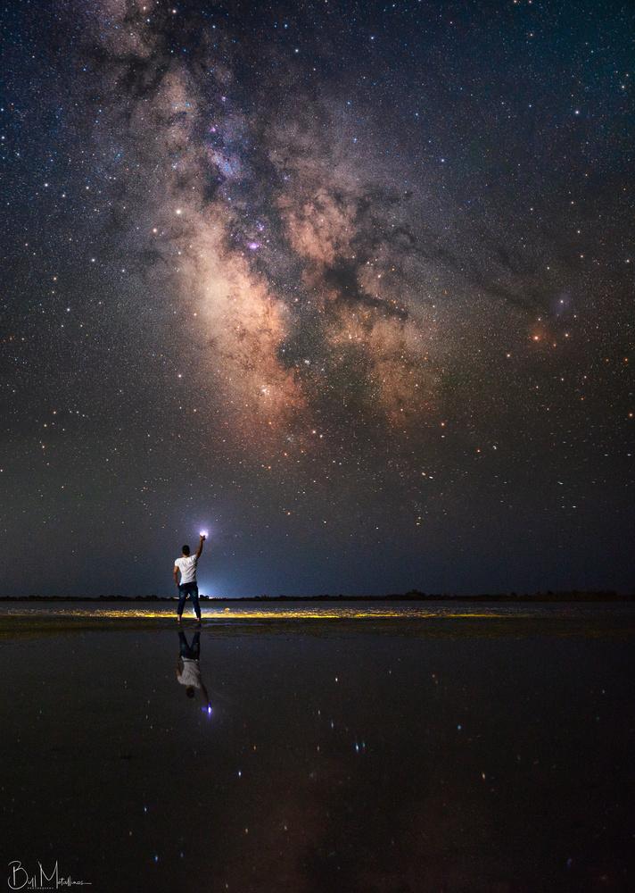 Nightscape above Lagoon Korission by Bill Metallinos