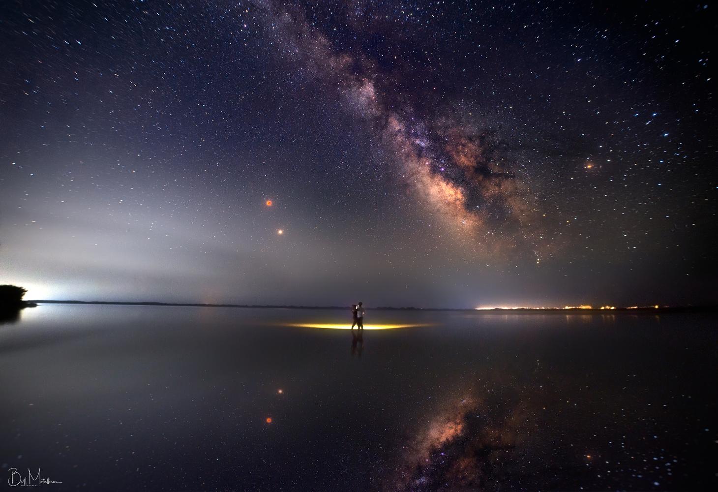 Dancing under the Total Lunar Eclipse by Bill Metallinos