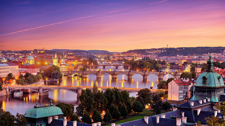 Prague Sunset by Sherif Sallam