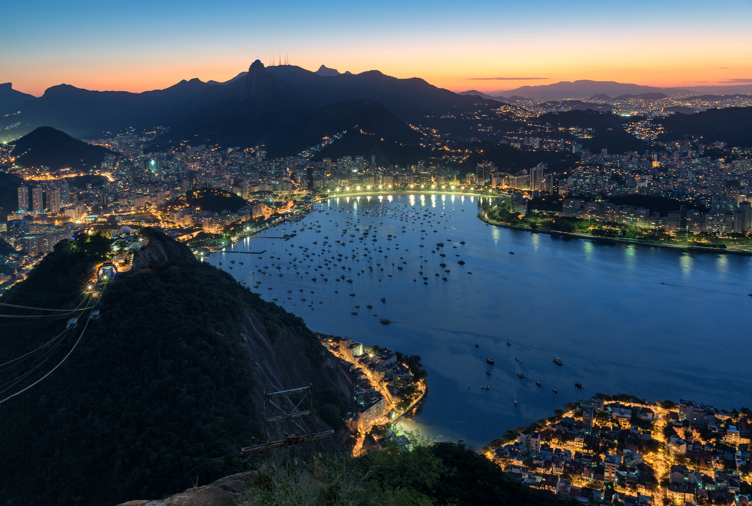 Panorama from the Sugar Loaf Mountain by Gabor Szarvas