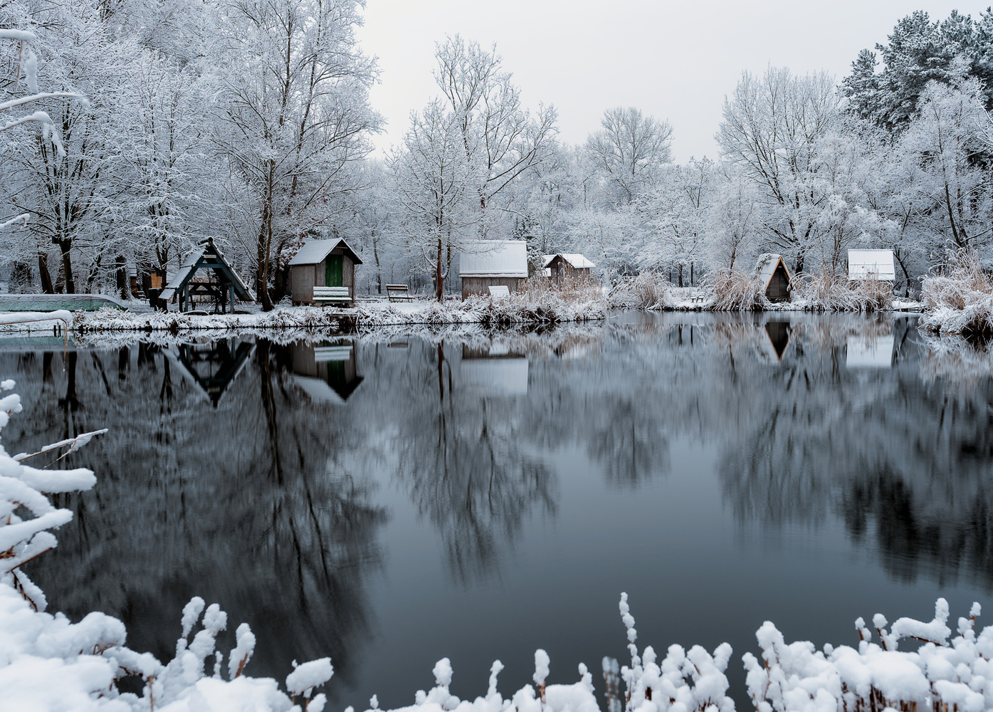 Small fishing village in Hungary by Gabor Szarvas