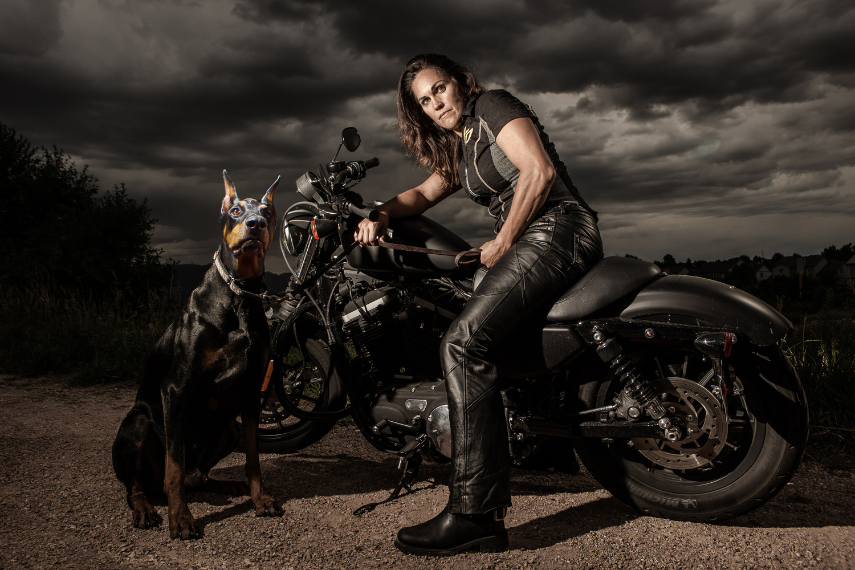 Motorcycle girl by Simone Severo