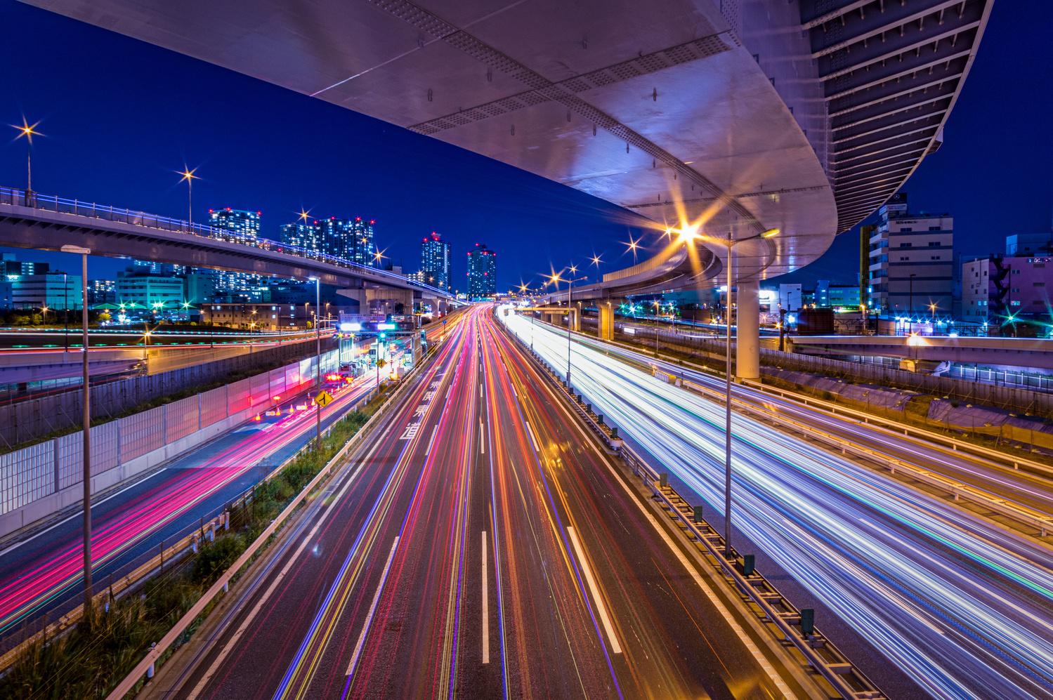 Stream of Tokyo Wangan Expressway by 45 tmr