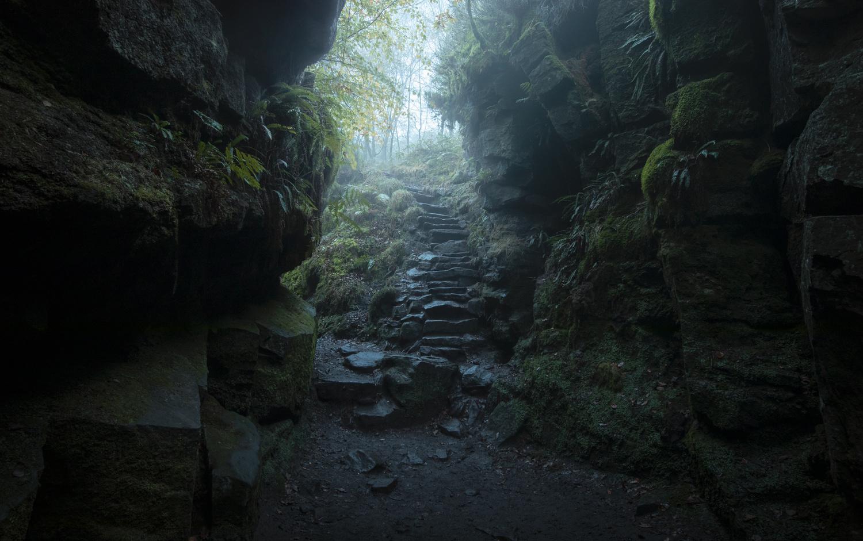 Green Stairway by Ben Lockett
