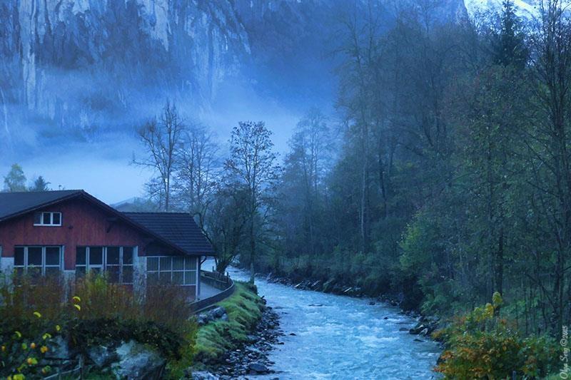Waterfall River by Olga Sergyeyeva