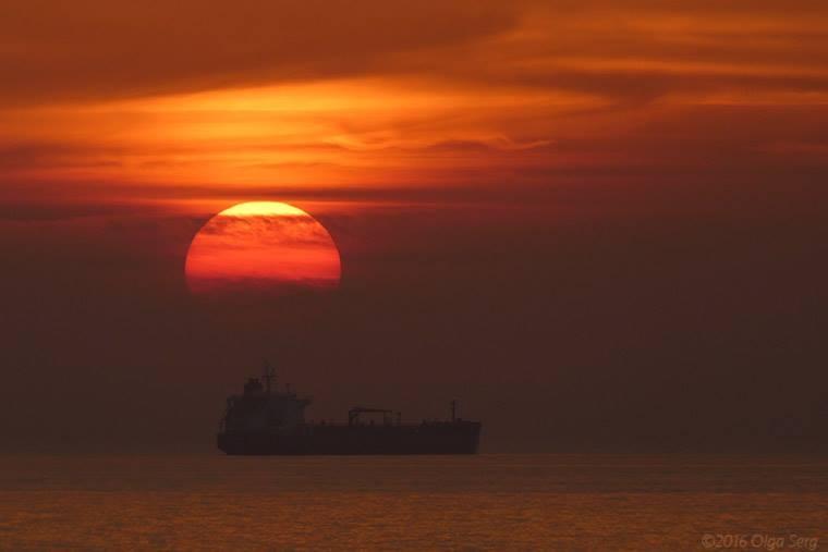 Mediterranean Sunset by Olga Sergyeyeva