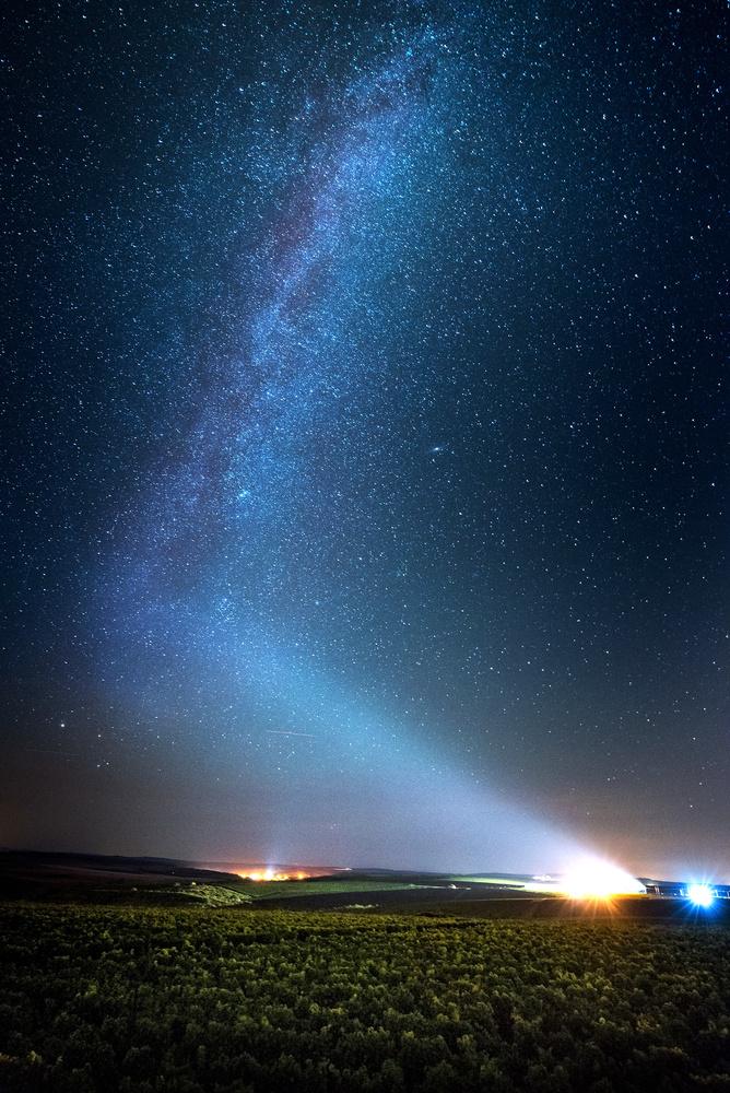 Milky way over the wine-yard. by Alex Robciuc