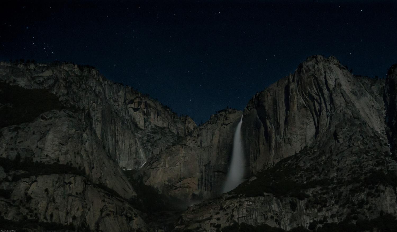 Yosemite Falls | Full Moon by Travis Bateman