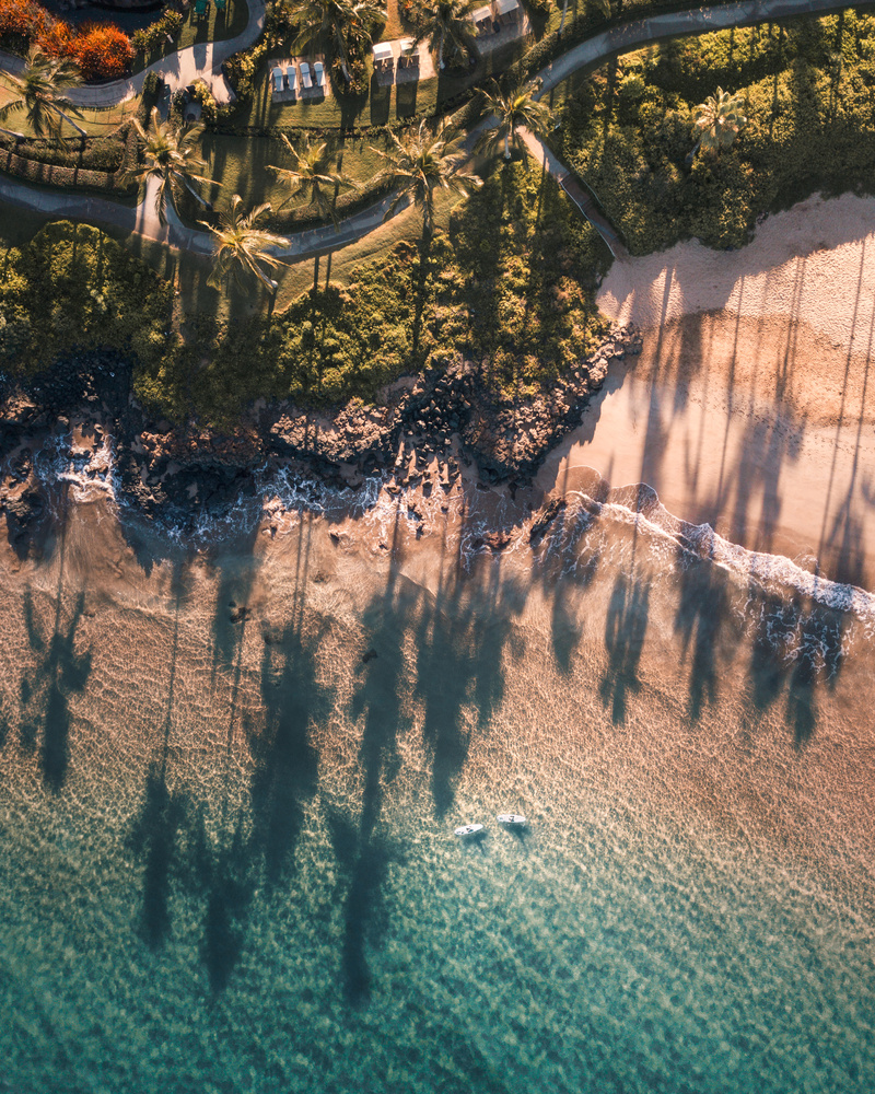 drone look down hawaii by Logan Armstrong
