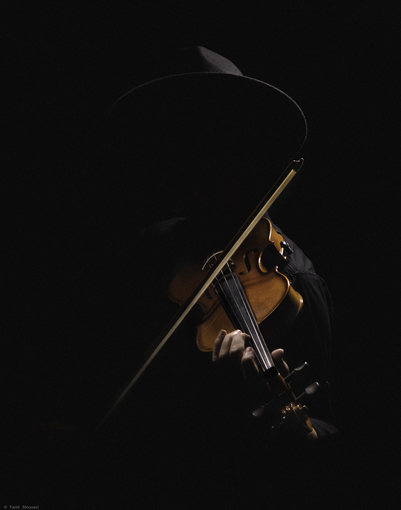 the man with the violin by farid Mousavi