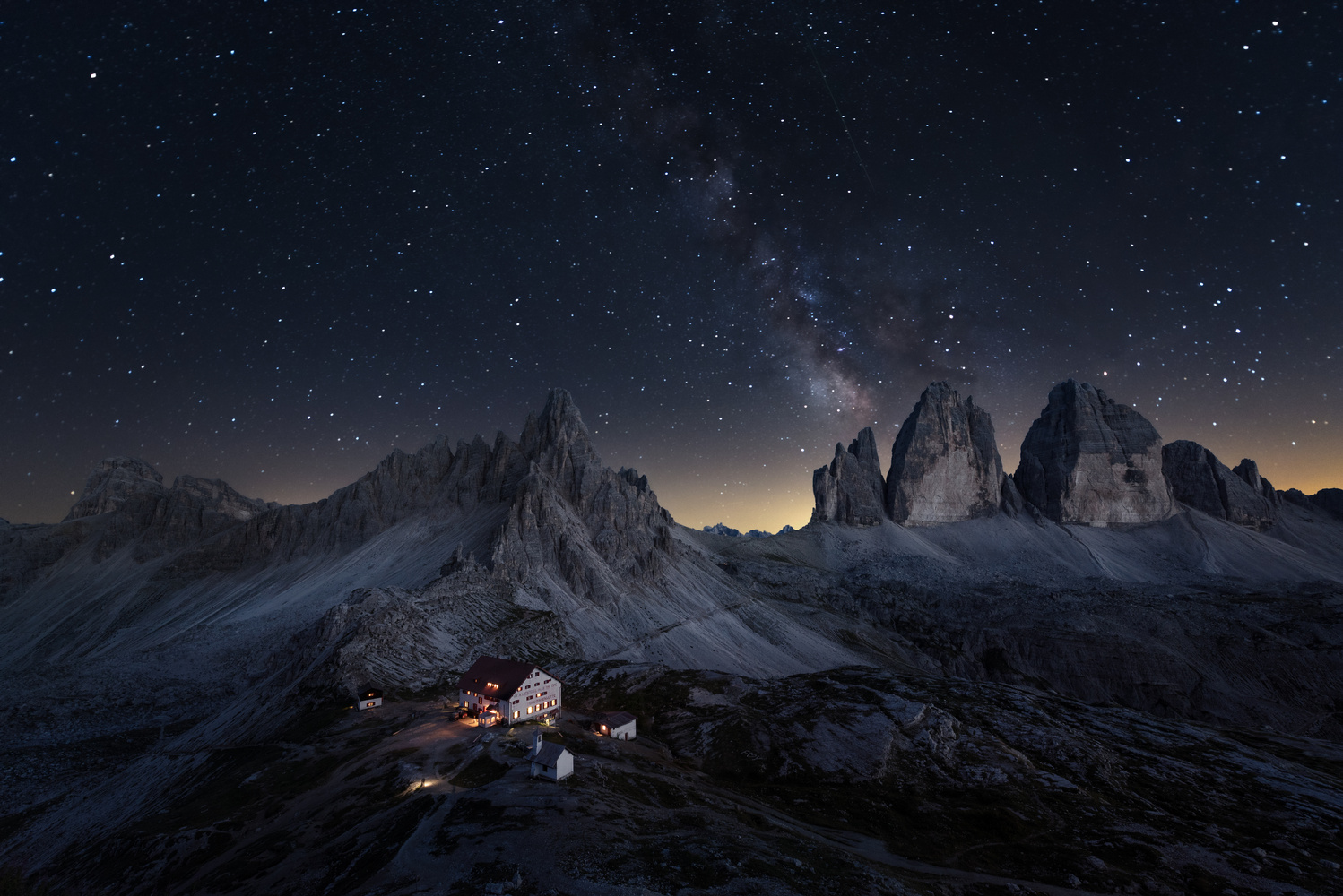 Three peaks and a million stars by Lukas Neuwirth