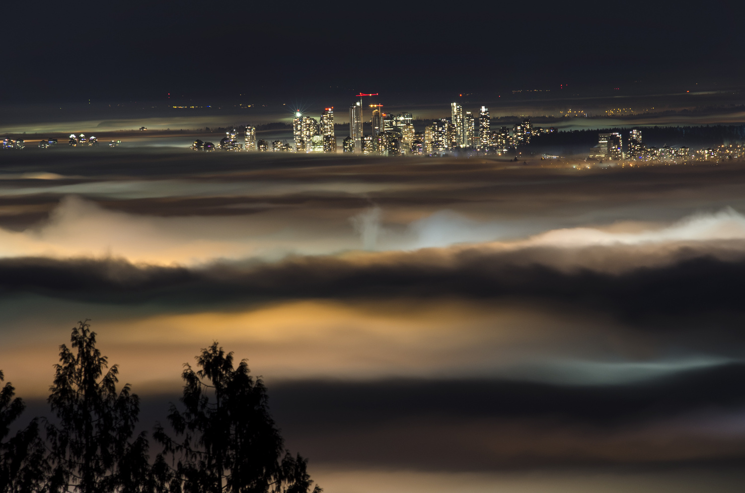 The City Reached Through The Fog by Ken Stewart