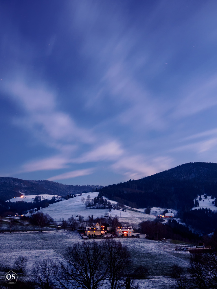 Blue Hour in the Black Forest by QS Fotografie