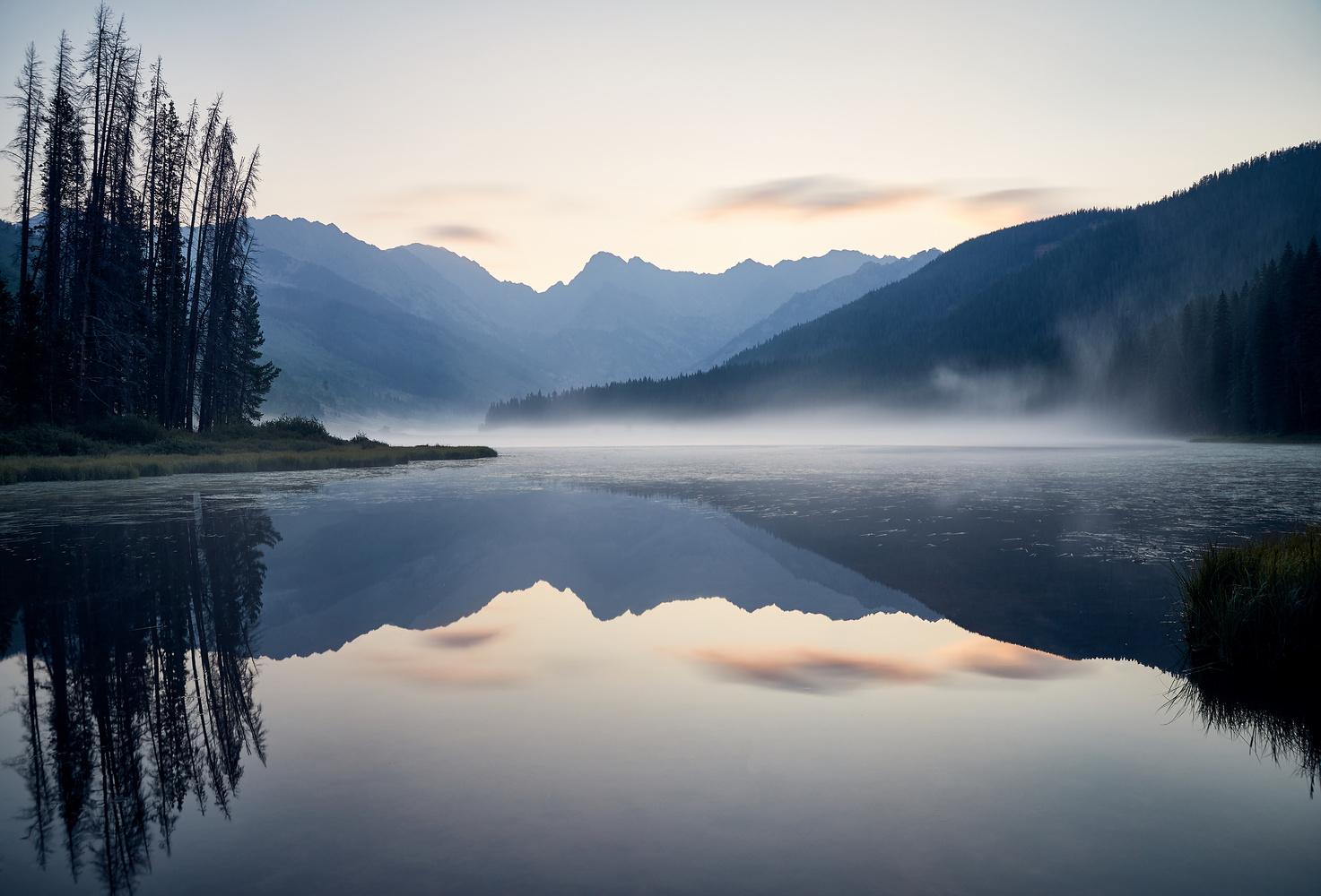 Colorado: Rising Mist on Piney Lake. by Sebastian Leonhardt