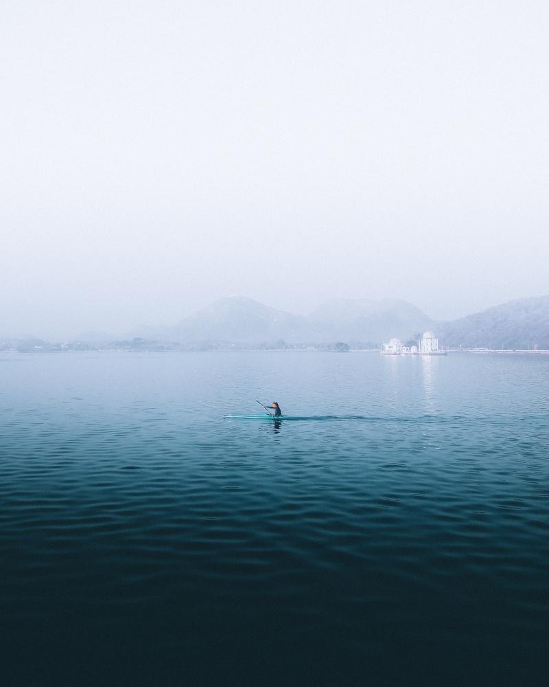 Fatehsagar Lake by Bhupendra Ranawat