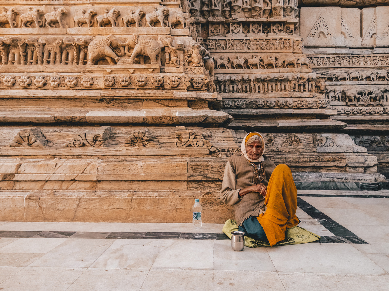 Homeless in Temple by Bhupendra Ranawat