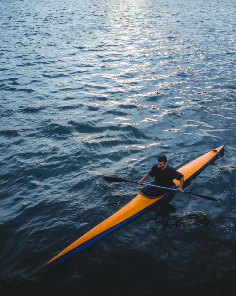 Kayaking in Lake by Bhupendra Ranawat