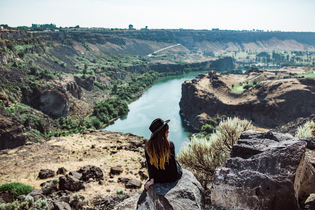 Sarah atop the Snake River by Kyle Ford