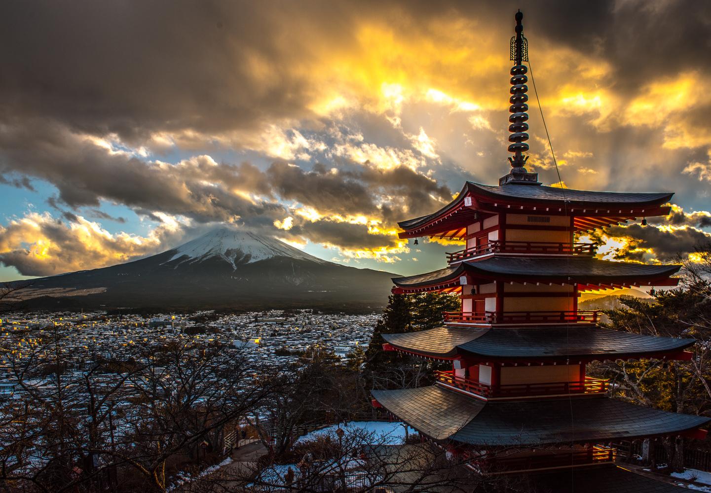 Enlightened Pagoda by Allen Ng