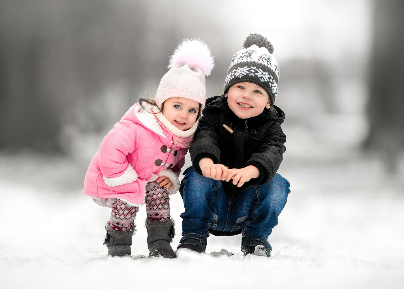 Winter Brother & Sister by Daniel Venter