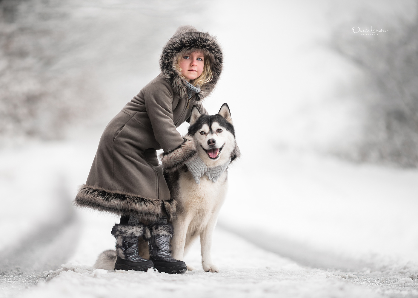 My Husky and I by Daniel Venter