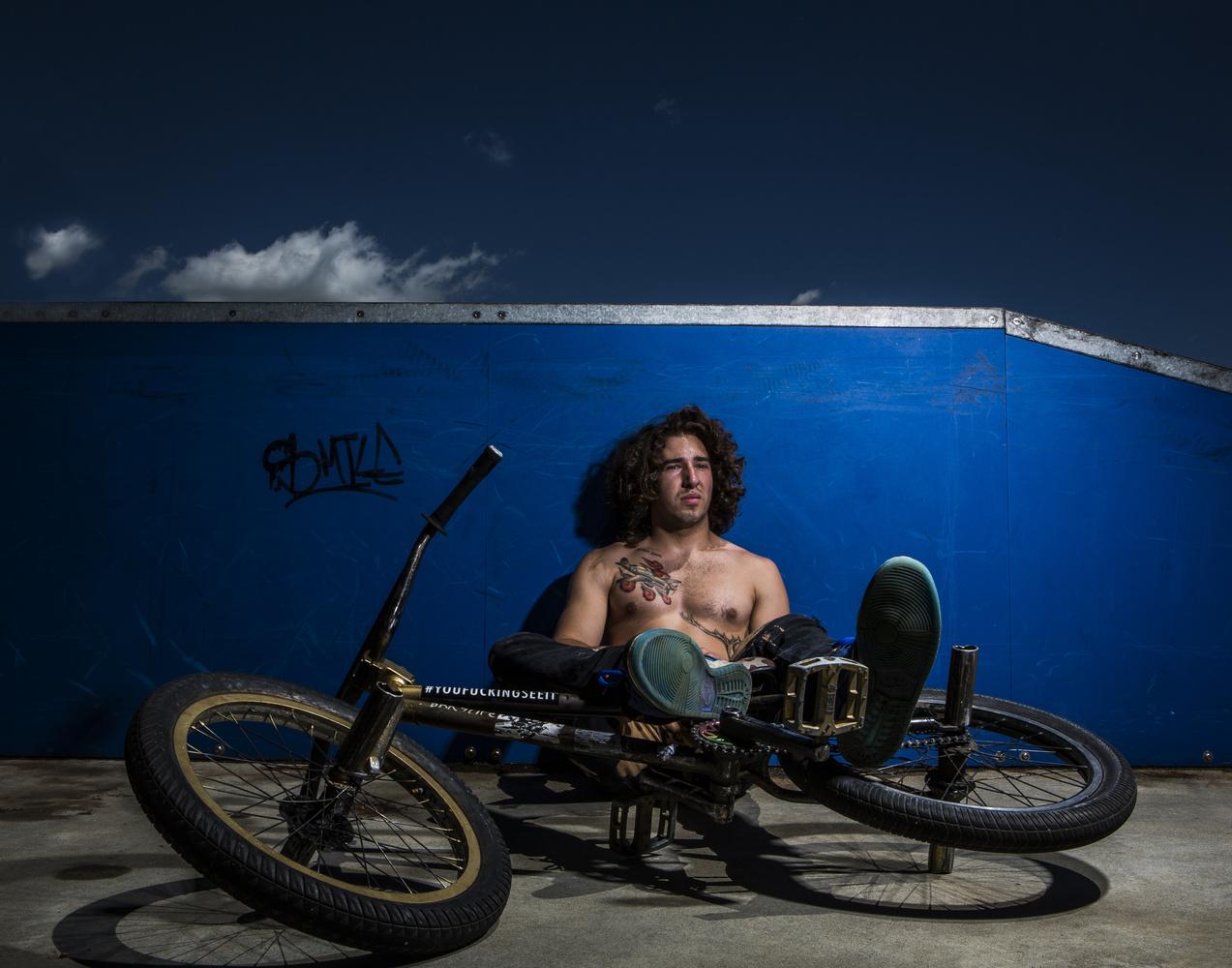 Bmx rider by Benjamin Henault
