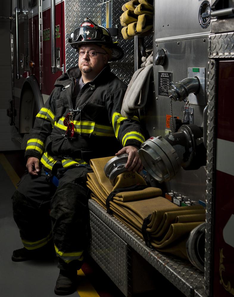 Firefighter by Benjamin Henault