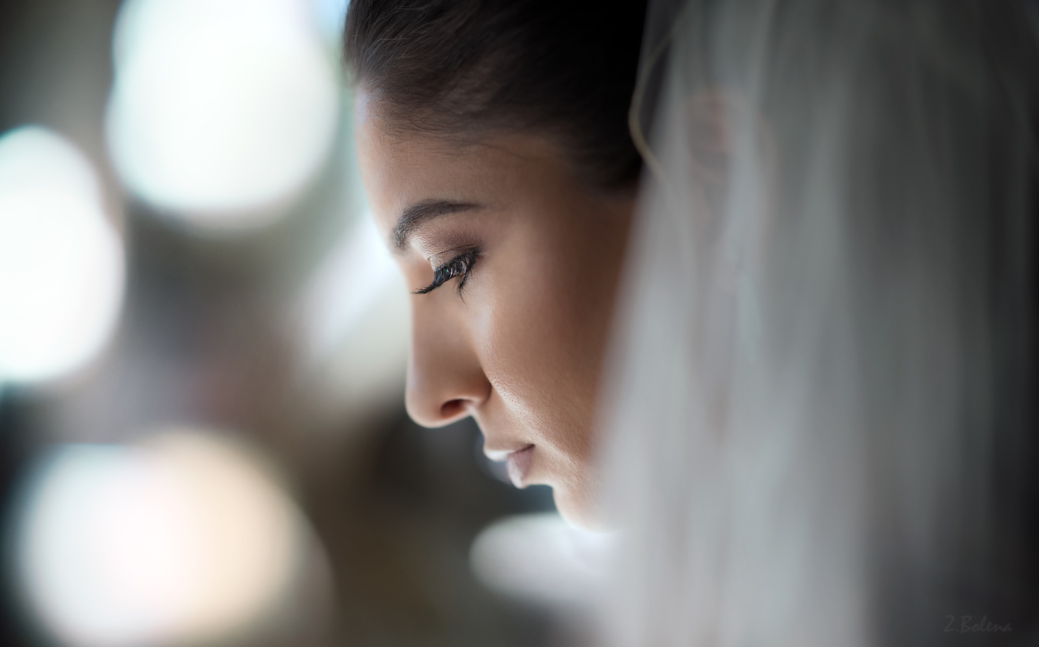 Bride Bokeh by Zachary Bolena