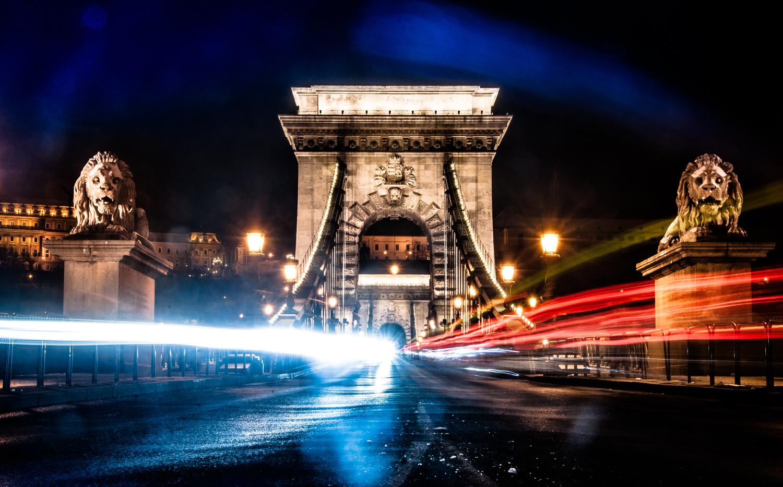 Chain Bridge Nightlights by Gellert Kovacs