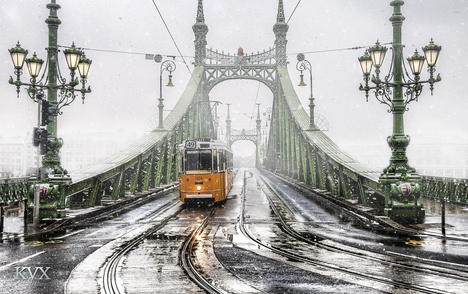 Creamy Liberty Bridge by Gellert Kovacs