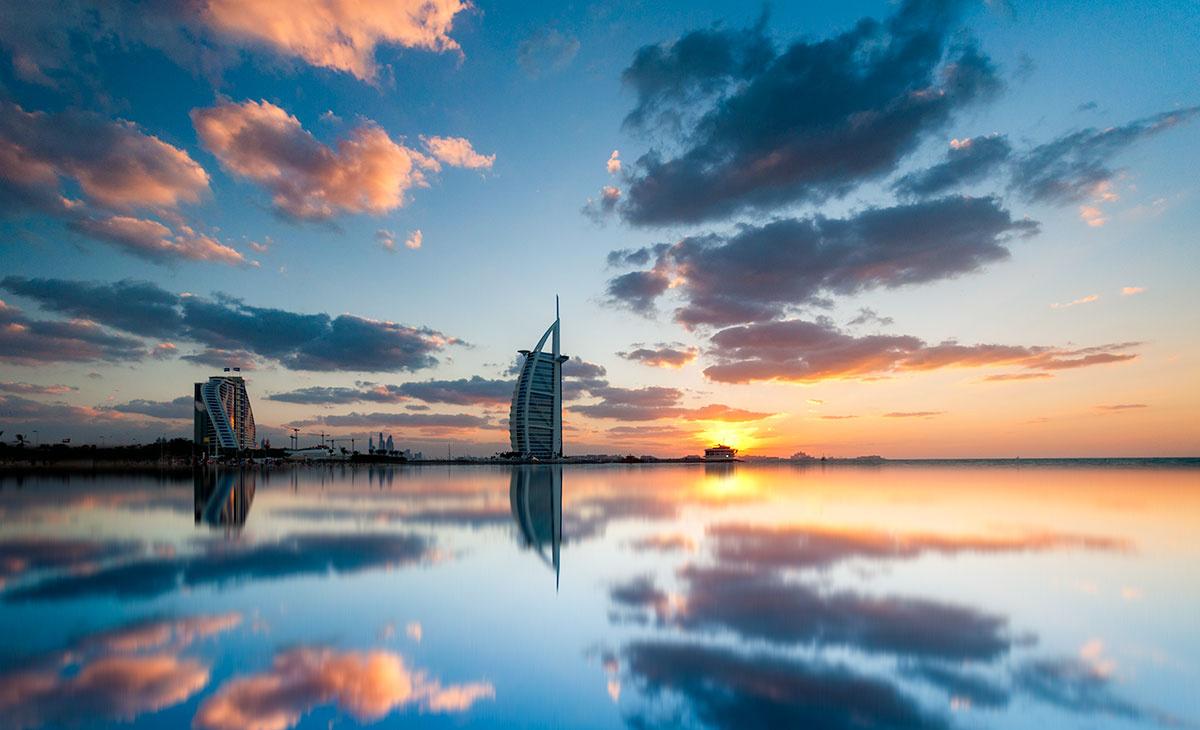 Burj al Arab sunset by Mustafa Sheikh