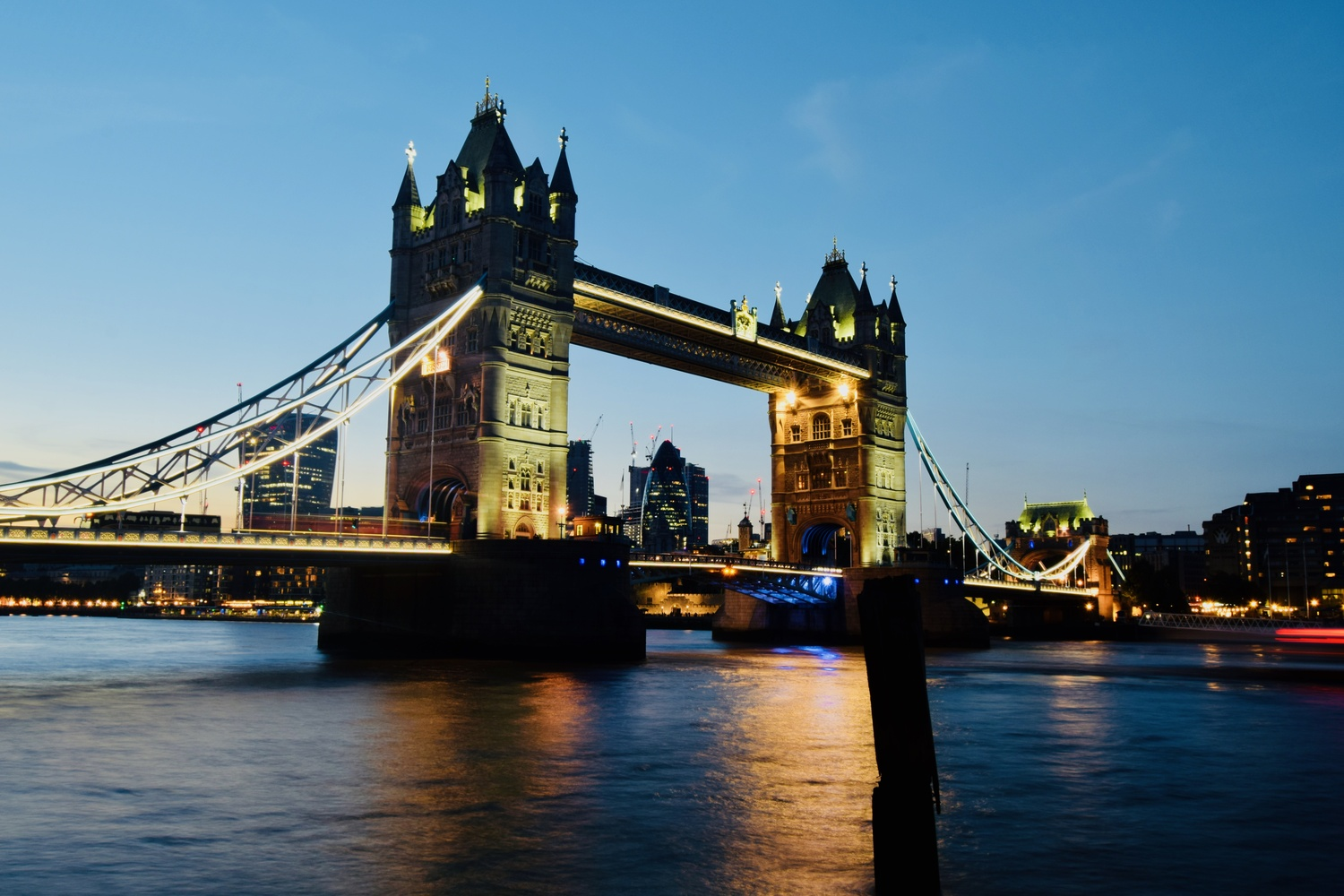 Tower Bridge At Dusk by Andrew Hunter